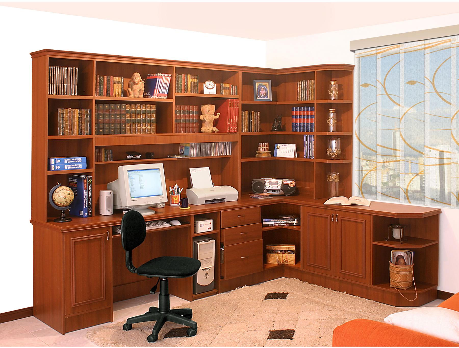 Bibliotecas y centros de entretenimiento dise os - Bibliotecas de madera ...